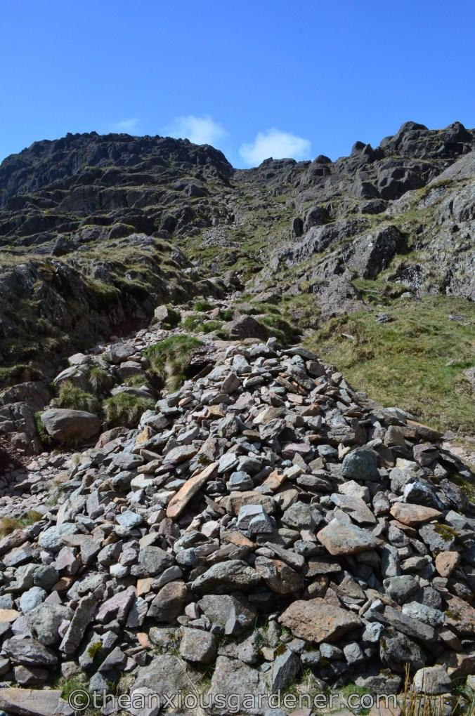 Climbing Langdale Pikes